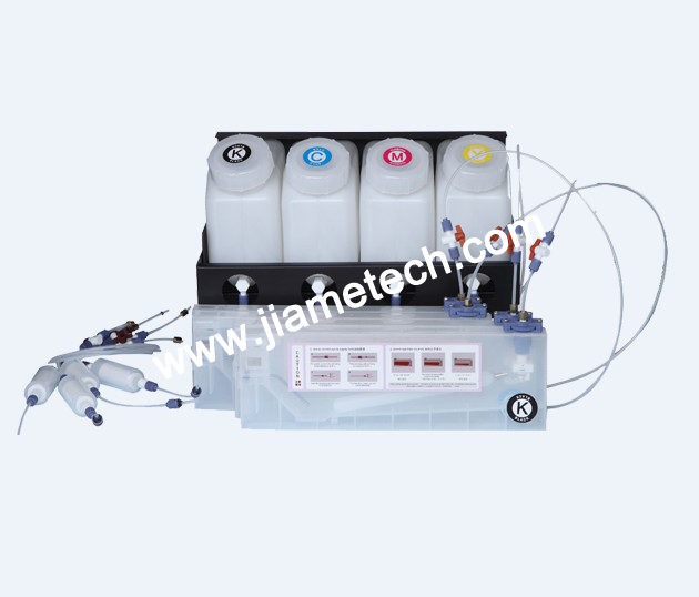 Bulk Ink System for 4 Color with 4 Ink Cartridge